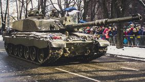 Soldier Tank on Road Stock Images