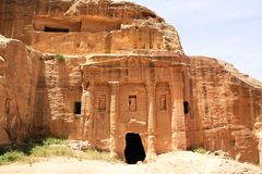 Soldier Tomb in Petra, Jordan Stock Photography