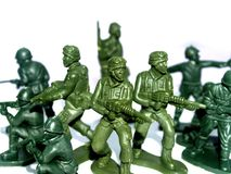 Soldier  toy 9. Group of green army men  / soldier  toy Royalty Free Stock Photos