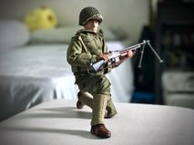 Soldier Toy. A soldier portrait stock images