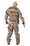 Soldier in uniform, ready to fight Royalty Free Stock Image