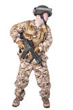 Soldier in uniform, ready to fight Royalty Free Stock Photo