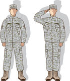 Soldier in uniform salute Stock Images