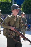 Soldier in uniform in the 73th Annual Nisei Week Grand Parade Stock Photography
