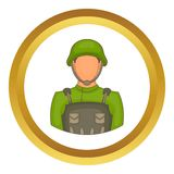 Soldier vector icon Royalty Free Stock Photos