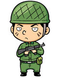 Soldier. Vector illustration of Cartoon Soldier holding gun Royalty Free Stock Image