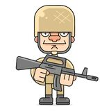 Soldier Vector Illustration On White Background For Your Design