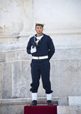 Soldier in the Victor Emmanuel II Monument, Rome Stock Photography