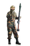 Soldier with a weapon Royalty Free Stock Photos