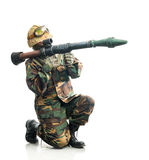 Soldier with a weapon Royalty Free Stock Image