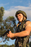 Soldier with weapon Royalty Free Stock Photo