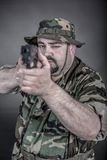 Soldier. Is a soldier wearing his uniform and gun Royalty Free Stock Photography