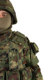 Soldier on white background Stock Photography