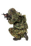 Soldier on white background Royalty Free Stock Images