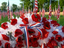 Soldier Wreath. At a healing field stock images