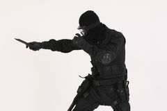 Soldier3. Soldier or Police man in special operations uniform and with weapons Stock Photo