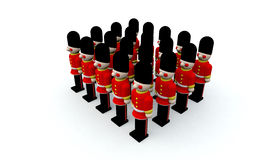 Soldiers. Army of wooden soldiers at Christmas Royalty Free Stock Photo