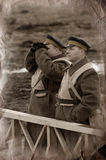 Soldiers 1918. WWI reenacting Royalty Free Stock Photography