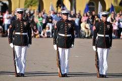 We Are Soldiers. Soldiers of the United States Marine Corps Silent Drill Team Royalty Free Stock Photo