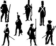 Soldiers. Vector illustration of warrior armed Royalty Free Stock Photography
