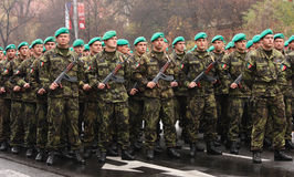 Soldiers. Editorial photo: Czech army forces. Troops review in Prague, Czech Republic. 28th October 2008 Stock Photography