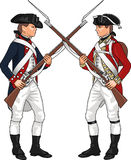 Soldiers from American Revolutionary War Stock Images