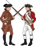 Soldiers from American Revolutionary War Stock Photo