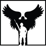 Soldiers Angel Stock Photography