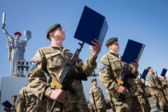 Soldiers of the Armed Forces of Ukraine Stock Photography