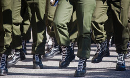 Soldiers in army Parade Stock Image