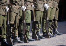 Soldiers in army Parade Stock Images