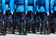 Soldiers in army Parade Royalty Free Stock Image