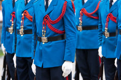 Soldiers in army Parade Royalty Free Stock Photo