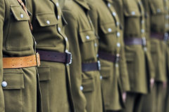 Soldiers assembly Royalty Free Stock Photo