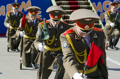 The soldiers of the Belarusian army on parade Royalty Free Stock Photo