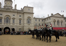 Soldiers from Blues and Royals Cavalry Regiment. Stock Photo