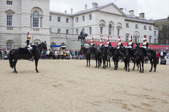 Soldiers from Blues and Royals Cavalry Regiment. Royalty Free Stock Photos