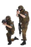 Soldiers of the Bundeswehr. Stock Photos