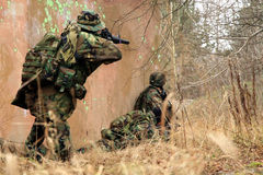 Soldiers in camouflage Royalty Free Stock Image