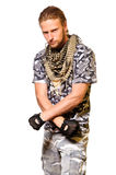 Soldiers in camouflage uniform Stock Photo