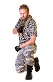 Soldiers in camouflage uniform Royalty Free Stock Images