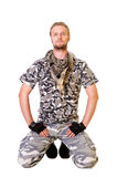 Soldiers in camouflage uniform Royalty Free Stock Photos