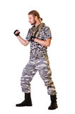 Soldiers in camouflage uniform Royalty Free Stock Photography