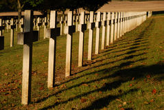 Soldiers cemetery Stock Image