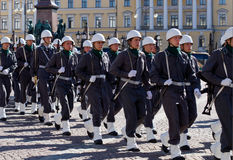 Soldiers on ceremonies royalty free stock photo