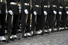 Soldiers at ceremony Royalty Free Stock Photo