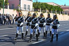 Soldiers changing the guard Royalty Free Stock Photography