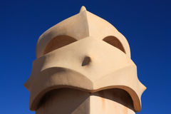 Soldiers chimney anthropomorphic by Gaudi Royalty Free Stock Image