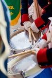 Soldiers drumming in Tamborrada of San Sebastian. Basque Country, Spain. Stock Photo