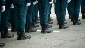 Feet of soldiers at army stock video footage